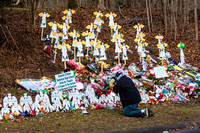 12.23.2012 Newtown, CT week after Sandy Hook Elementary School t